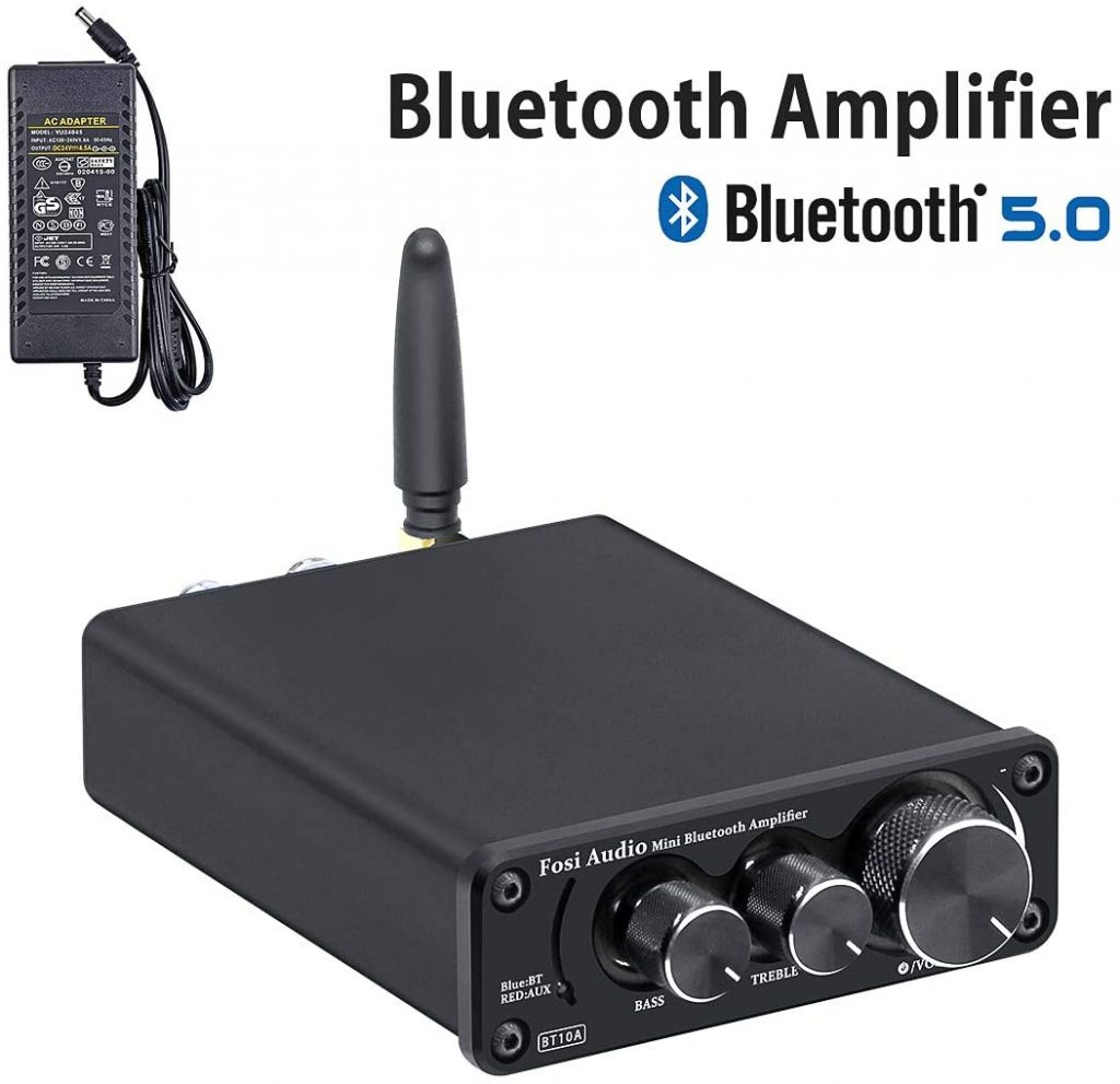 Fosi Audio BT10A Bluetooth 5.0 Stereo Audio Amplifier Receiver
