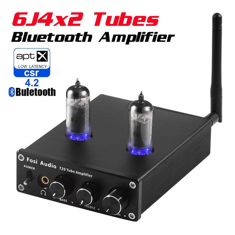 Fosi Audio T20 Bluetooth Tube Amplifier Stereo Receiver