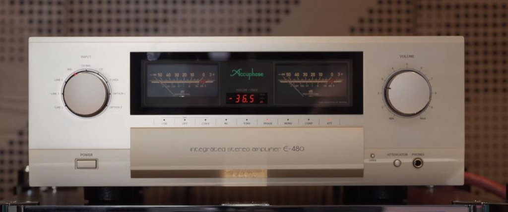 Accuphase E480 amplifier feature image