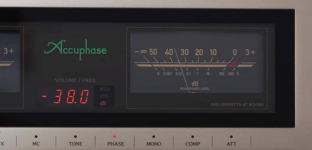Accuphase E480 amplifier meter