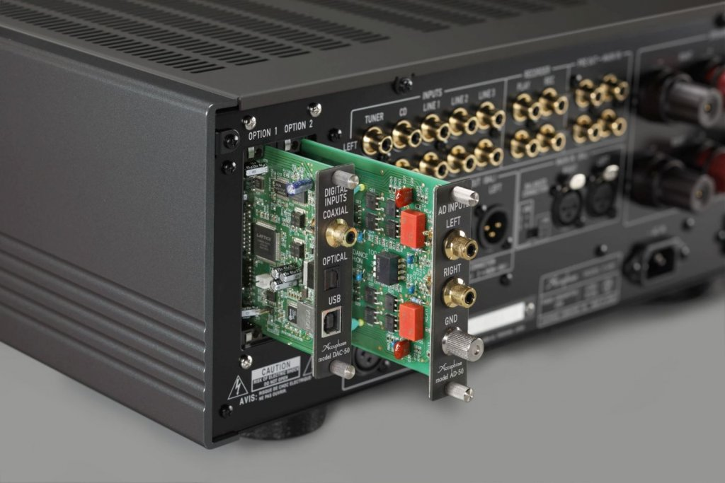 Accuphase E480 amplifier optional card slots
