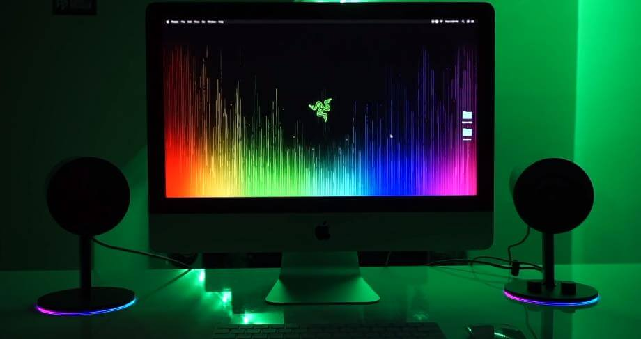 Razer Nommo Chroma speaker the led effect