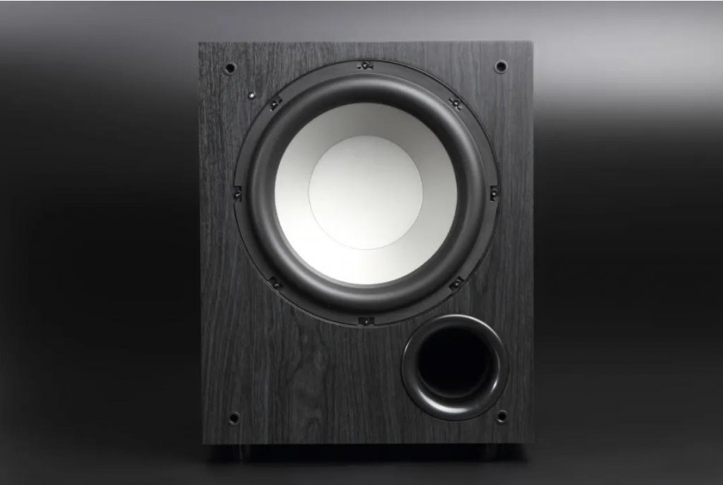 jamo c910 active subwoofer front with bass port