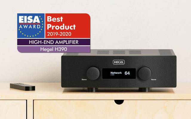 Hegel H390 integrated amplifier with dynaudio special 40